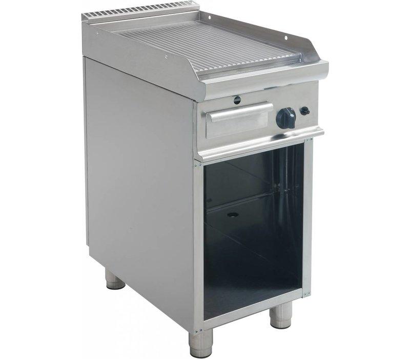Saro Bakplaat Geribd Gas Open Onderstel Casta - 40x70x(H)85cm - 6KW
