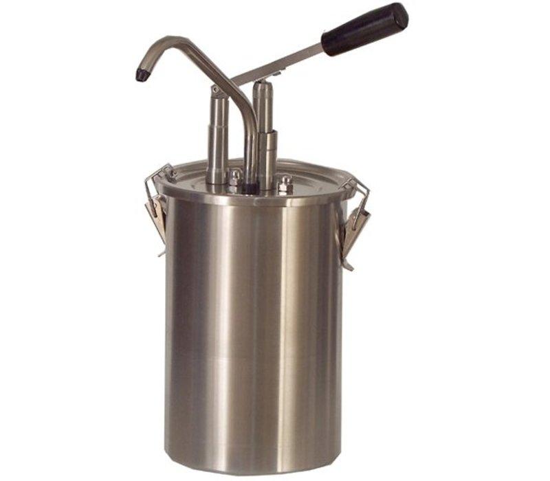 Saro Soßenspender - Edelstahl - 4,5 Liter - Pro
