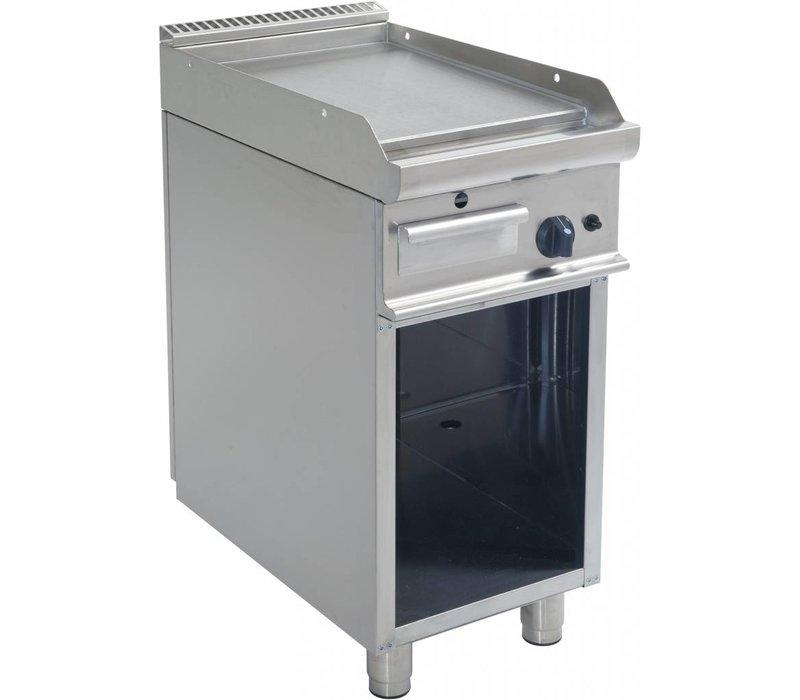 Saro Bakplaat Glad Gas Open Onderstel Casta - 40x70x(H)85cm - 6KW