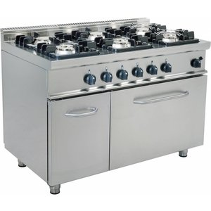 Saro Gas stove 6 burners with gas oven 120 liters Casta - 3 x 3 x 4,5 kW + 7KW