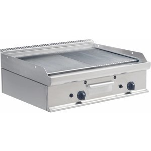 Saro Griddle Smooth / Ribbed Gas Tabletop Casta - 80x70x (H) 27cm - 12kw