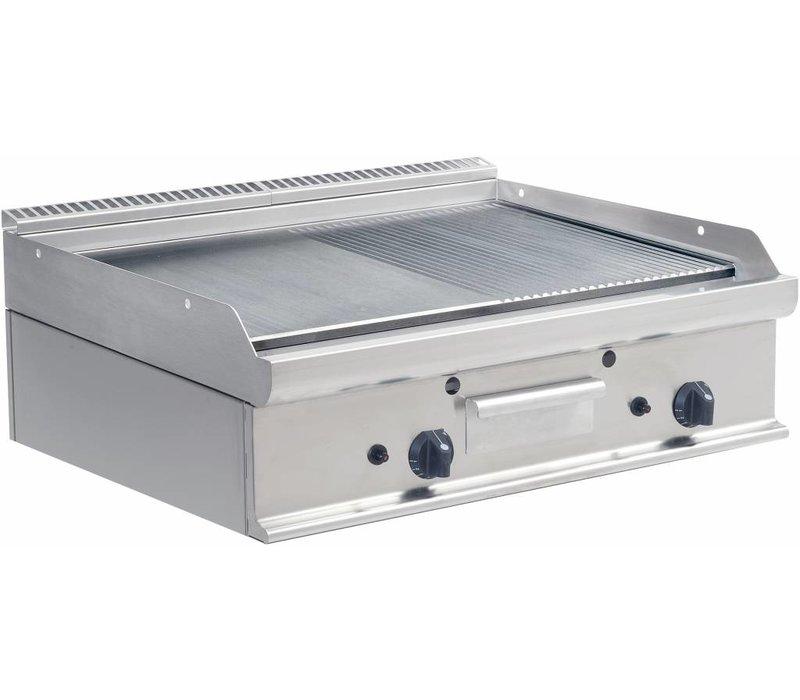 Saro Griddle Glatte / Rippen Gas Tabletop Casta - 80x70x (H) 27cm - 12kw