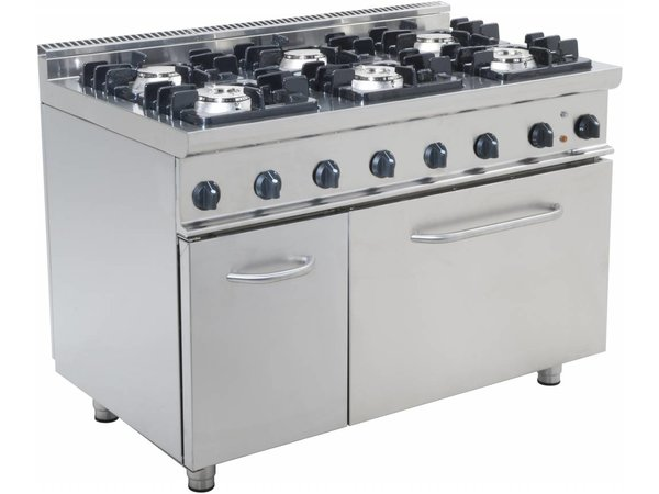 Saro Gas stove 6 burners with electric oven 120 liters Casta - 3 x 3 x 4,5 kW + 7KW