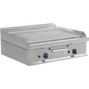 Saro Gerippte Grillplatte Gas Tabletop Casta - 80x70x27cm - 12KW