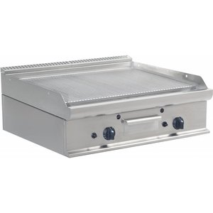 Saro Ribbed griddle Gas Tabletop Casta - 80x70x27cm - 12KW