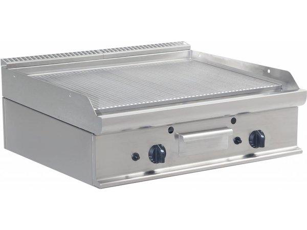 Saro Ribbed griddle Gas Tabletop Casta - 80x70x27cm - 12KW