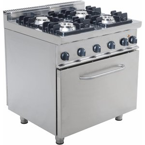 Saro Gasherd 4 Flammen mit Elektro-Backofen 120 Liter Casta - 2 x 4,5 kW + 7,5 kW