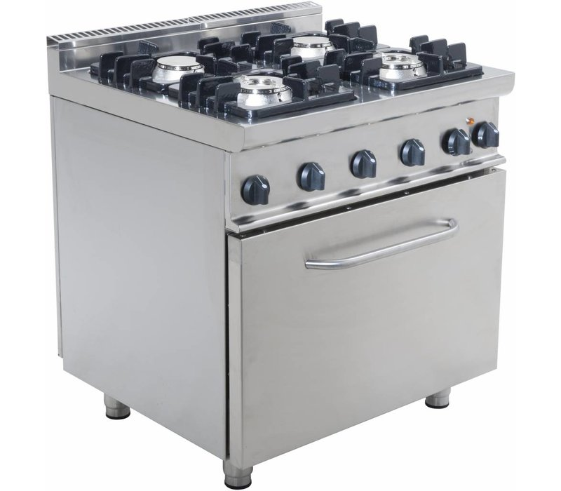 Saro Gas stove 4 burners with electric oven 120 Liter Casta - 2 x 4,5 kW + 7.5 kW