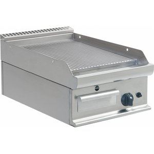 Saro Ribbed griddle Gas Tabletop Casta - 40x70x (H) 27cm - 6kW