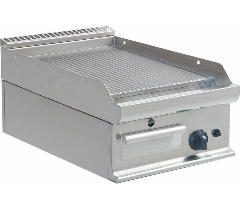 Saro Bakplaat Geribd Gas Tafelmodel Casta - 40x70x(H)27cm - 6KW