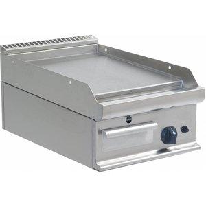 Saro Glatte Grillplatte Gas Tabletop Casta - 40x70x27cm - 6kW