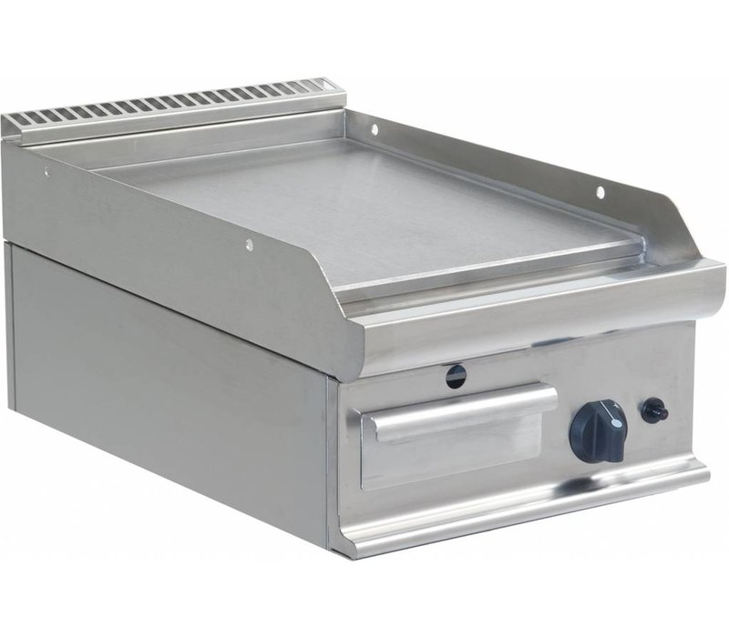 Saro Smooth griddle Gas Tabletop Casta - 40x70x27cm - 6kW