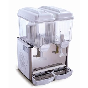 Saro Gekühlte Getränke Spender 2 x 12 Liter - Weiß