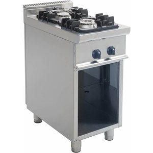 Saro Gasherd   Zwei Brenner   Open Frame Casta   4,5 KW + 7,5 KW   400x700 (H) 850 mm