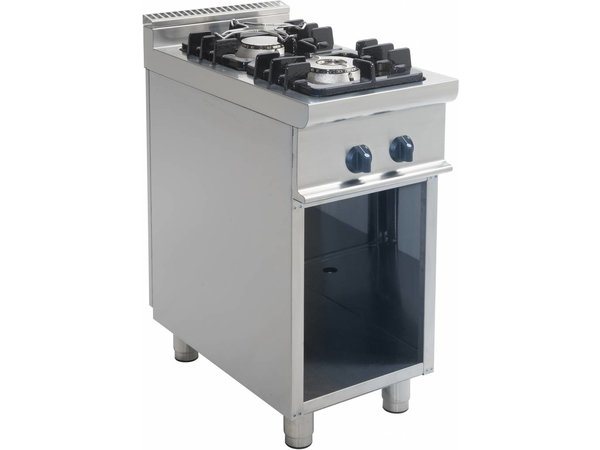 Saro Gas stove | Two Burners | Open Frame Casta | 4.5 KW + 7.5 KW | 400x700 (H) 850 mm