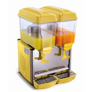 Saro Gekühlte Getränke Spender 2 x 12 Liter - Gelb
