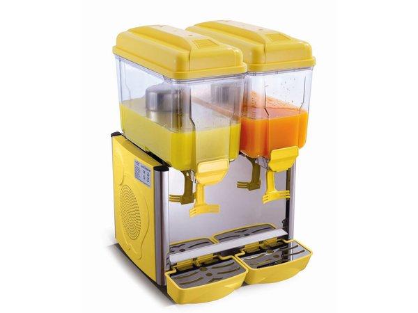Saro Gekoelde dranken dispenser 2 x 12 Liter - Geel