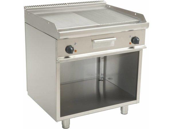 Saro Fry Top Electric Open Frame Casta - Glatte / Ribbed - 80x70x (h) 85cm - 400V / 10,4kW
