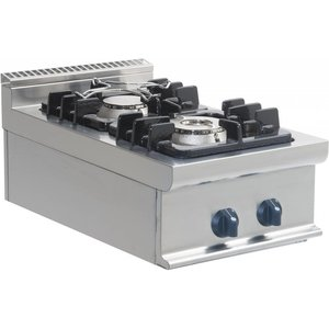 Saro Gas stove 2 burners Tabletop Casta | 4.5 KW + 7,5 KW | 400x700x (H) 275mm