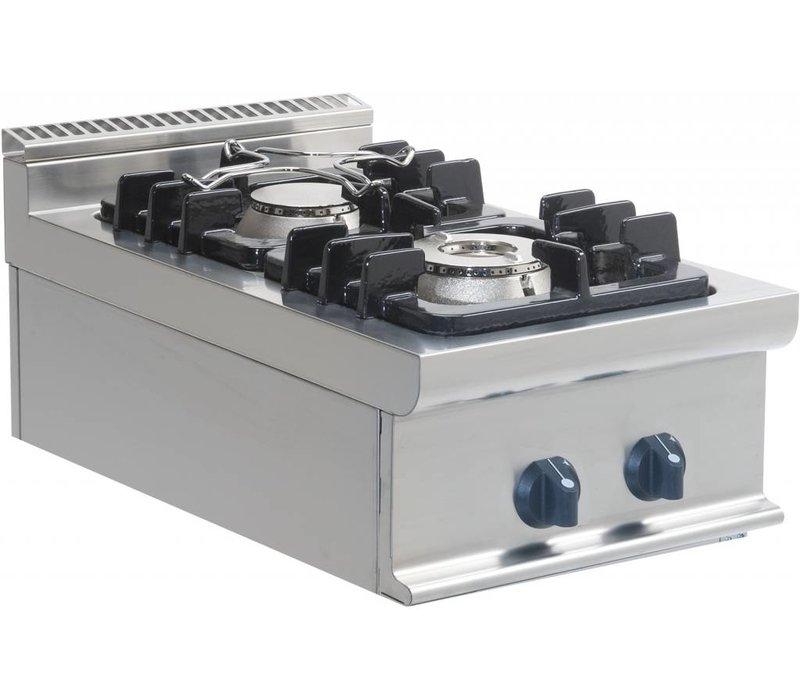 Saro Gas stove 2 burners Tabletop Casta | 4.5 KW + 7,5 KW | 400x700x (H) 275mm