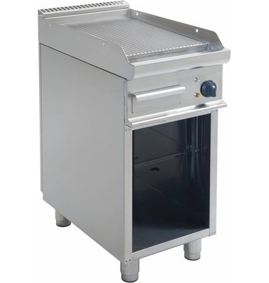Saro Bakplaat Geribd Elektrisch Open Onderstel Casta - 40x70x(h)85cm - 400V/5,4kW