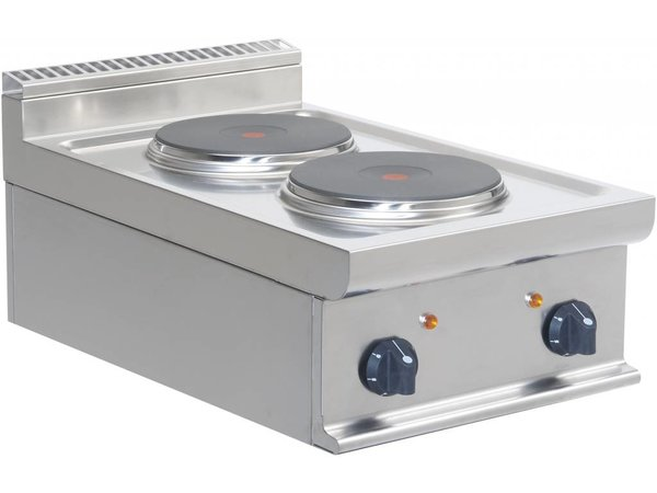 Saro Electric stove | 2 burner Casta | Tabletop | 2 x 2.6 KW | 400x700x (H) 275mm