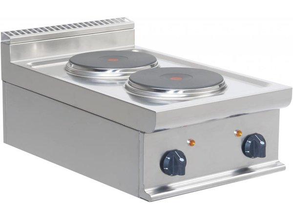 Saro Elektro-Kaminofen | 2-Flammen-Casta | Tischplatte | 2 x 2,6 KW | 400x700x (H) 275mm