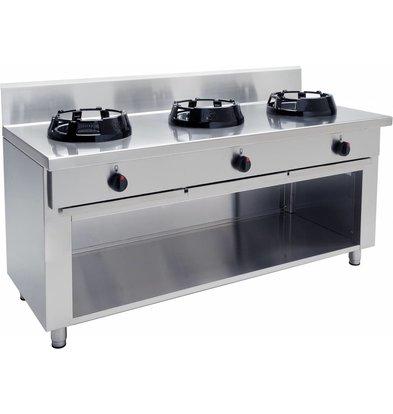 Saro Wok burner gas stove 3 Casta Open Frame - 3 x 14KW