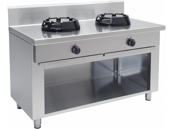 Saro Wok Gas Cooker 2 burners Casta Open Frame - 2 x 14KW