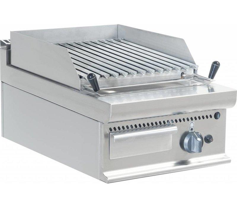 Saro Lavasteingrill Gas RVS - Tabletop Casta - V-Grid - 40x70x (h) 27cm - 8KW