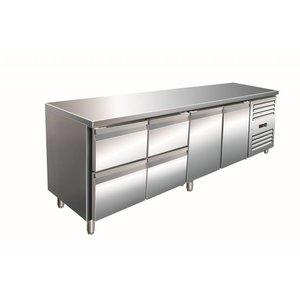 Saro Cool Workbench 2 door 4 drawers - 223x70x (h) 89-95cm