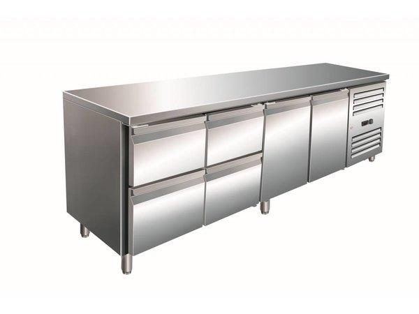 Saro Coole Workbench 2 Türen 4 Schubladen - 223x70x (h) 89-95cm