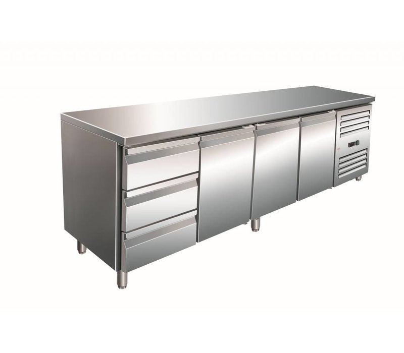 Saro Cool Workbench third door 3 drawers - 223x70x (h) 89-95cm