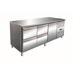 Saro Cool Workbench one door 4 drawers - 180x70x (h) 89-95cm