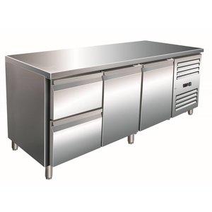 Saro Cool Workbench two door 2 drawers - 180x70x (h) 89-95cm