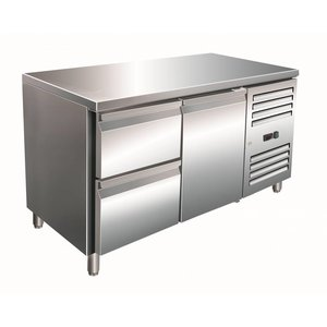 Saro Cool Workbench 1 door 2 drawers - 136x70x (h) 89-95cm