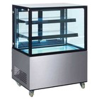 Saro Pastry Display Case 270 Liter - On wheels - Professional - 91x67x (h) 127cm