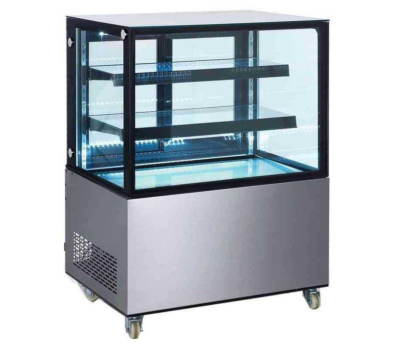 Saro Pastry Display Case 270 Liter - On wheels - Professional - 91x67x (h) 127cm