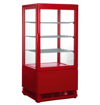 Saro Mini display fridge - 78 liters - three adjustable shelves - Red - 43x38x (h) 88