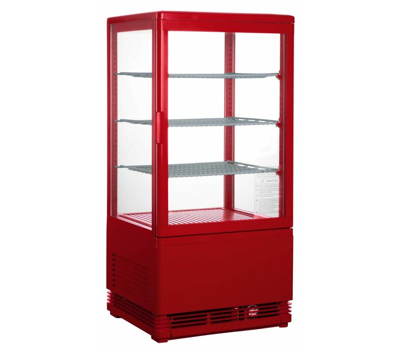 Saro Mini display fridge - 78 liters - three adjustable shelves - Red - 43x38x (h) 88