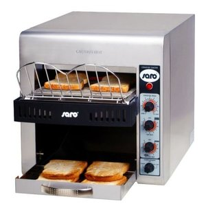 Saro Go through toaster - Professional XL - stainless steel variable speed - 37x58x (H) 40cm - 3000W