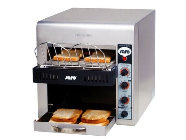 Saro Go through toaster - Professional XL - stainless steel variable speed - 37x58x (H) 40cm - 3000W