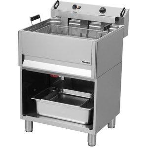 Bartscher Fritteuse | Elektirsch | Bäckerei | 30 Liter | 400V | 15kW | Mit Open Unterbau | 615x490x (H) 130mm