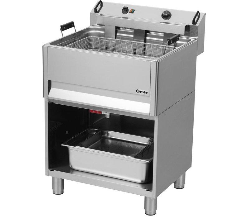 Bartscher Fritteuse | Elektrizität | Bäckerei | 30 Liter | 400V | 15kW | Mit Open Unterbau | 615x490x (H) 130mm
