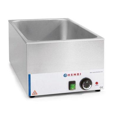 Hendi Bain-Marie GN | 150mm tiefen | Küchenzeile HENDI | 1200W | 340x540x (H) 250mm