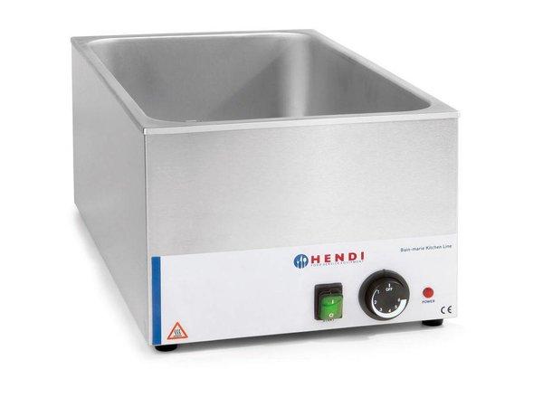 Hendi Bain-Marie GN   150mm tiefen   Küchenzeile HENDI   1200W   340x540x (H) 250mm