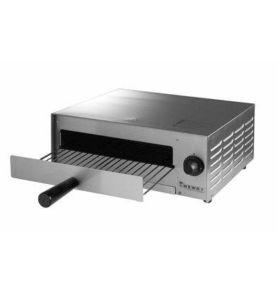 Hendi Pizzaofen Elektro Single | Pizza 30cm Basic | 1300W | 480x420x (H) 195mm