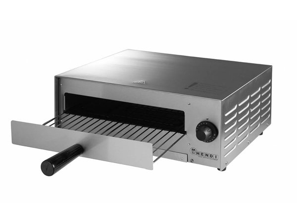 Hendi Pizzaofen Elektroeinzel   Pizza 30cm Grund   1300W   480x420x (H) 195mm