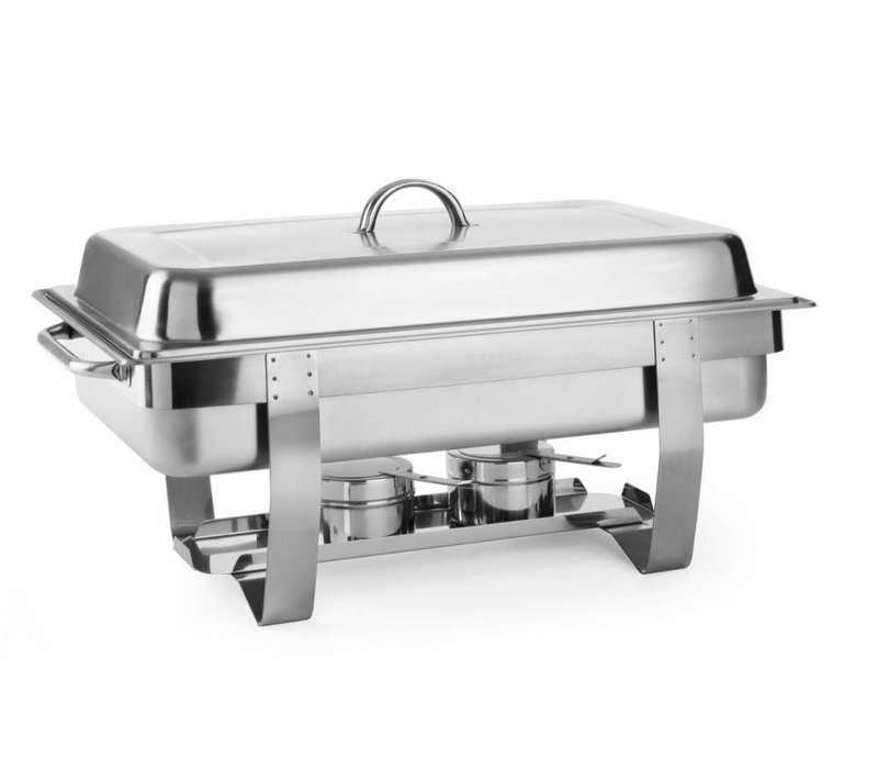 Hendi Chafing Dish | 9 Liter | GN 1/1 | Bis zu 100 mm tiefen | 585x385x (H) 315mm