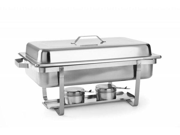 Hendi Chafing Dish | 1/1 GN | 9 Liter | 620x350x (H) 310mm | XXL ANGEBOT!